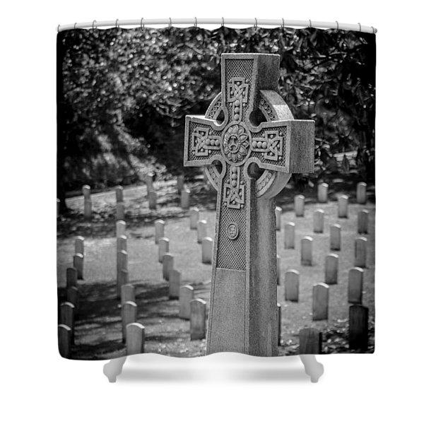 Celtic Grave Shower Curtain