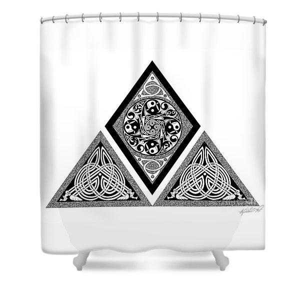 Celtic Pyramid Shower Curtain