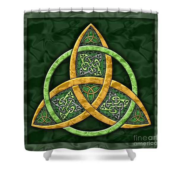 Celtic Trinity Knot Shower Curtain