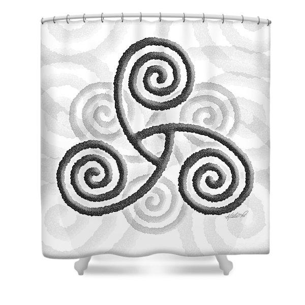 Celtic Triple Spiral Shower Curtain