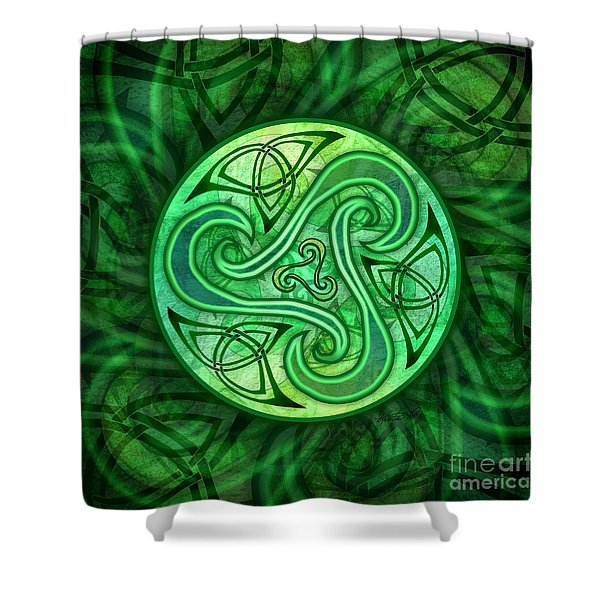 Celtic Triskele Shower Curtain