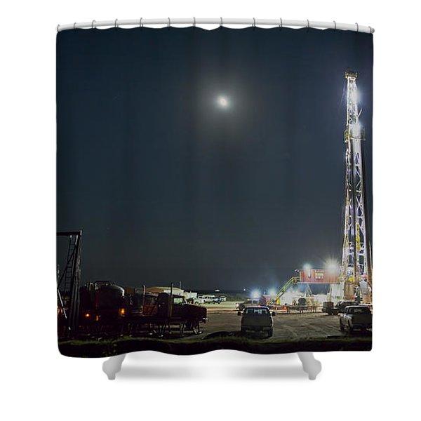Cement Job Shower Curtain