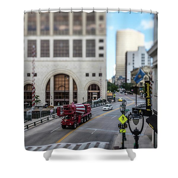 Cement Truck In The Itty-bitty-city Shower Curtain