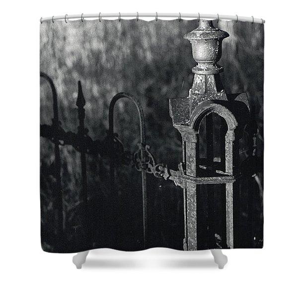 Cemetery  Fence Shower Curtain