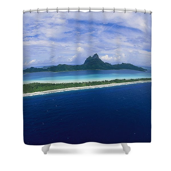 Center Of Bora Bora And Outer Rim Shower Curtain