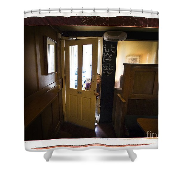 Center Page Girl Shower Curtain