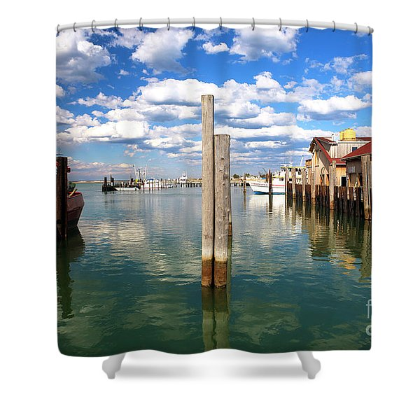 Centered Shower Curtain