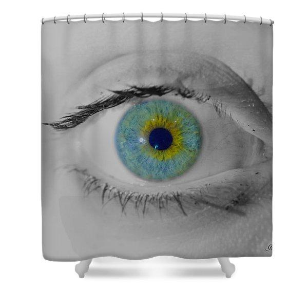 Central Heterochromia  Shower Curtain