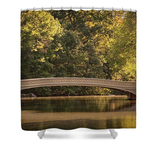 Central Park Bridge Shower Curtain