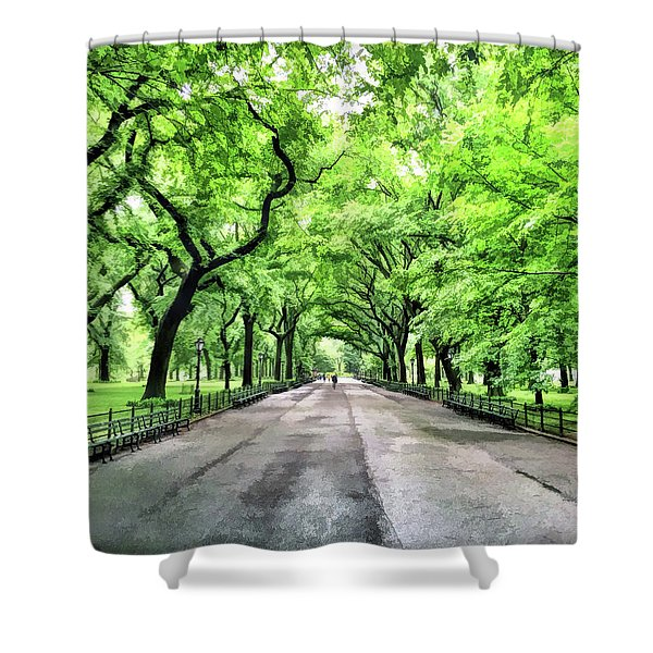 New York City Central Park Mall Shower Curtain