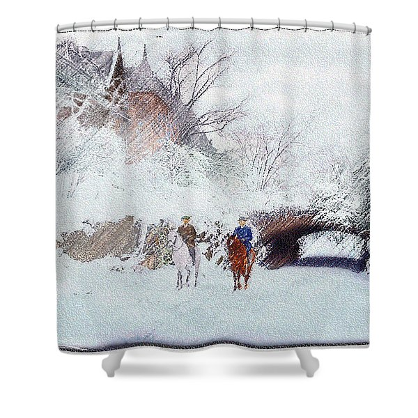 Central Park Snow Shower Curtain