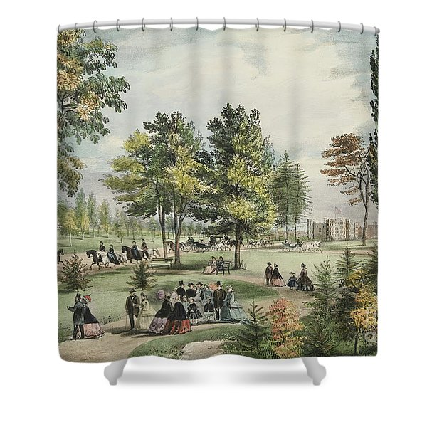 Central Park  The Drive, 1862 Shower Curtain