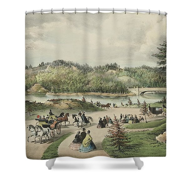 Central Park  The Lake, 1862  Shower Curtain