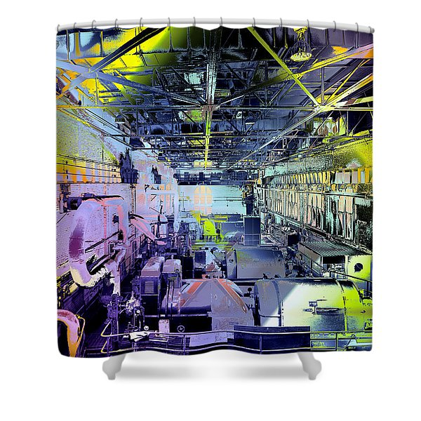 Shower Curtain featuring the photograph Grunge Central Power Station by Robert G Kernodle