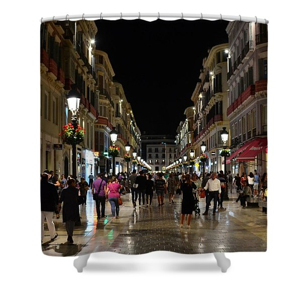 Centro De Malaga By Night - #ig_malaga Shower Curtain