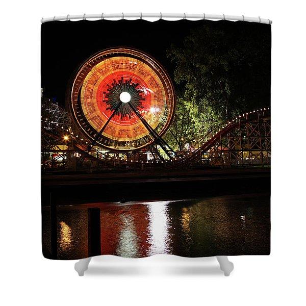 Century Wheel Shower Curtain