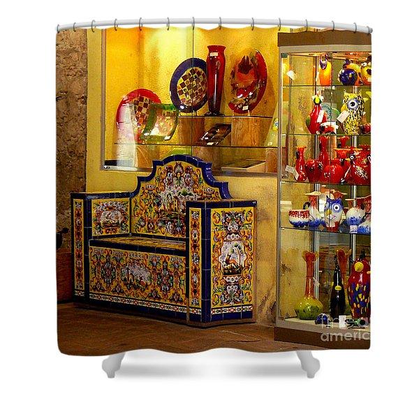 Ceramic Crafts In A Shop Shower Curtain