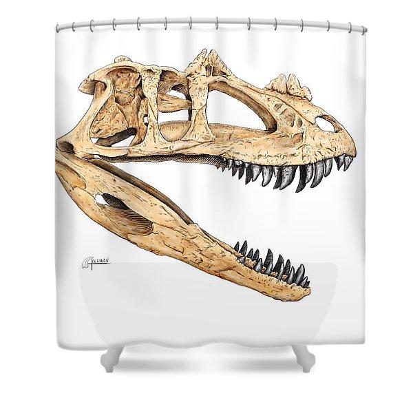 Ceratosaur Skull Shower Curtain
