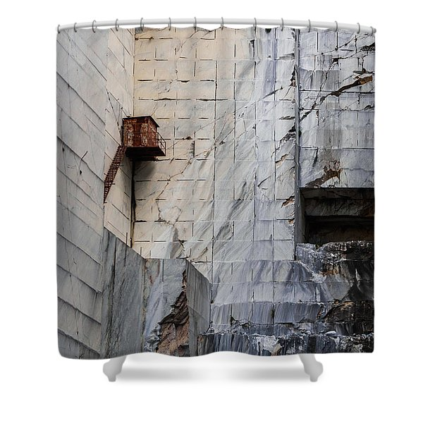 Cervaiole Quarry - Apuan Alps, Tuscany Italy Shower Curtain