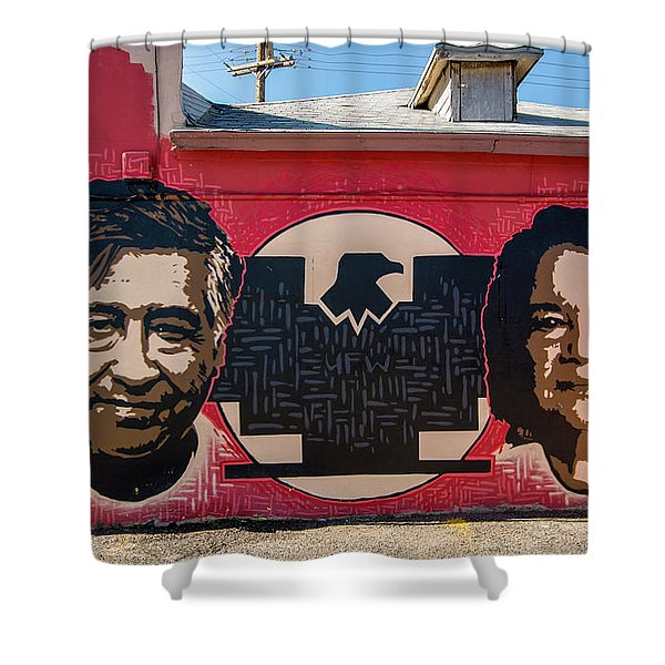 Cesar Chavez And Dolores Huerta Mural - Utah Shower Curtain