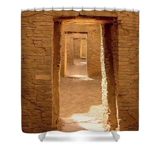 Chaco Ancient Doors   Shower Curtain