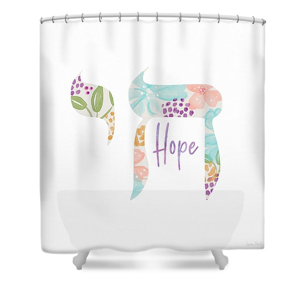 Chai Hope- Art By Linda Woods Shower Curtain