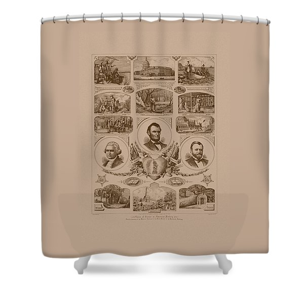 Chain Of Events In American History Shower Curtain