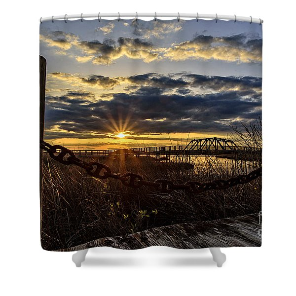Chained View Shower Curtain
