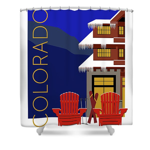 Colorado Chairs Shower Curtain