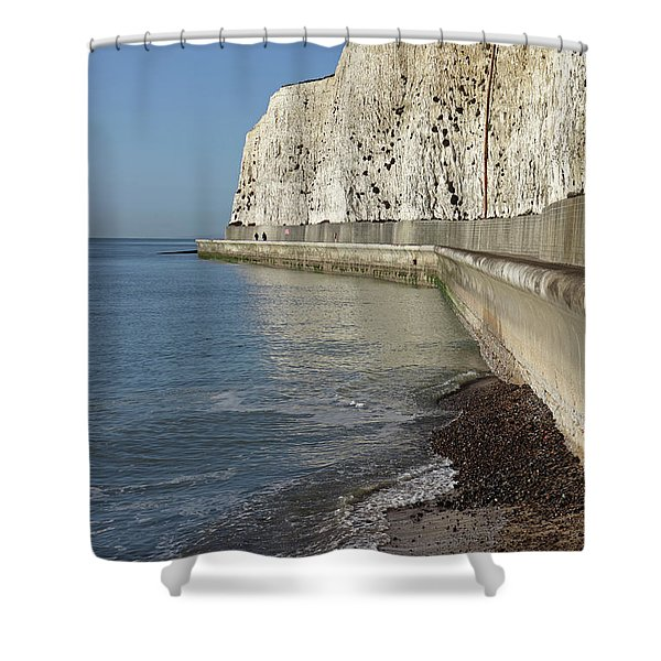 Chalk Cliffs At Peacehaven East Sussex England Uk Shower Curtain