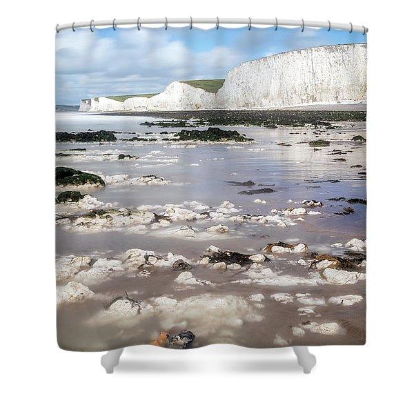 Chalk Cliffs Seven Sisters - England Shower Curtain