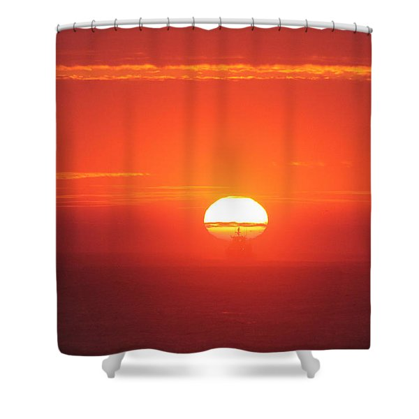 Challenging The Sun Shower Curtain