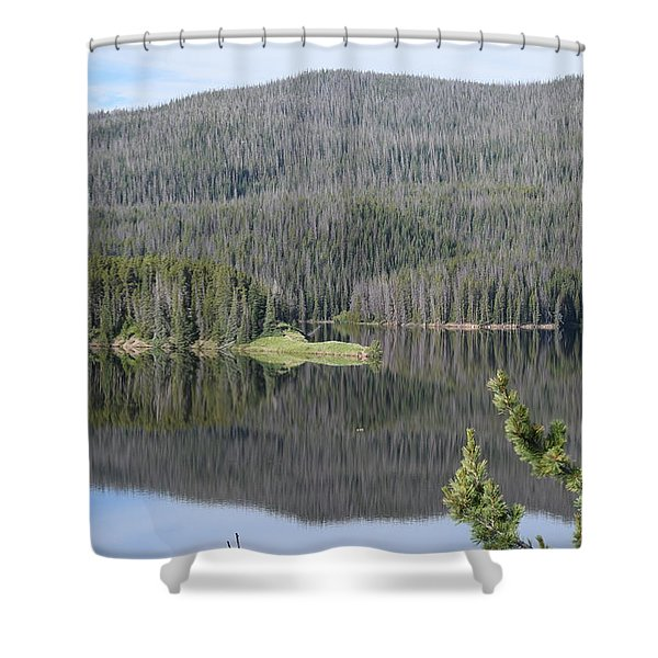 Chambers Lake Hwy 14 Co Shower Curtain