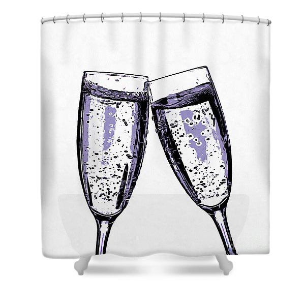 Champagne Wishes And Caviar Dreams Shower Curtain