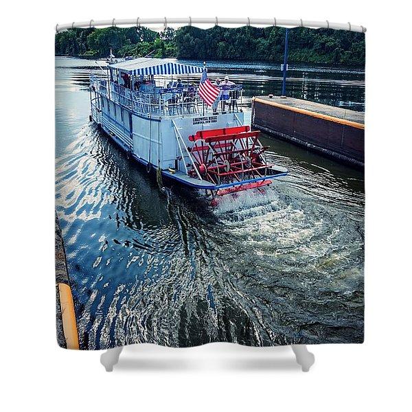 Champlain Canal Patriot Shower Curtain