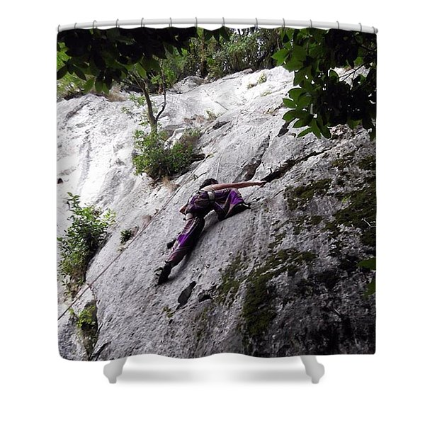Chanced Upon Some Climbers While Shower Curtain