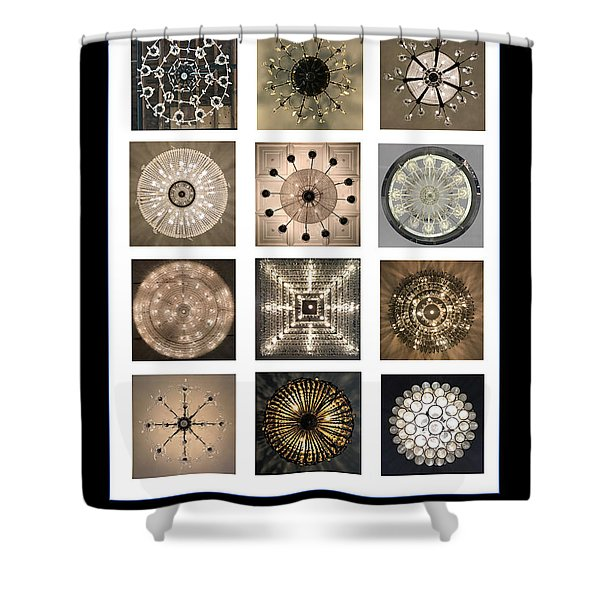 Chandeliers From Chicago Poster Shower Curtain