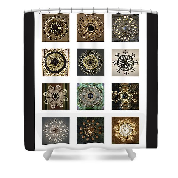 Collection Poster Chandeliers From Russia Shower Curtain