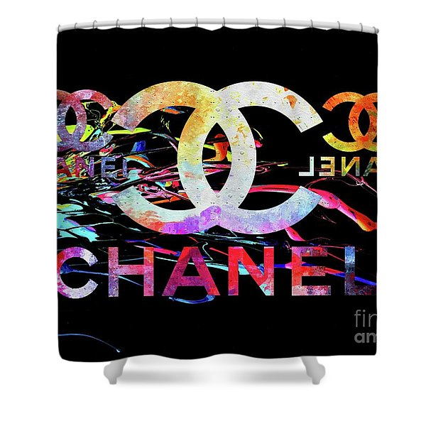 Chanel Black Shower Curtain