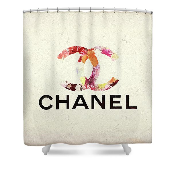 Chanel Floral Texture  Shower Curtain