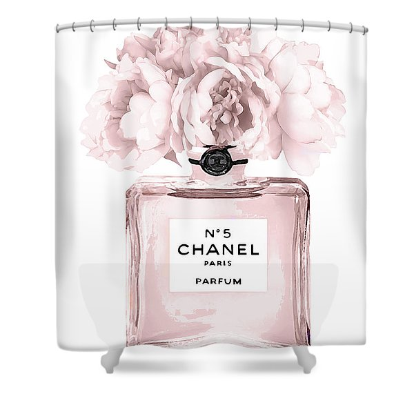 Chanel N.5 Perfume 9 Shower Curtain