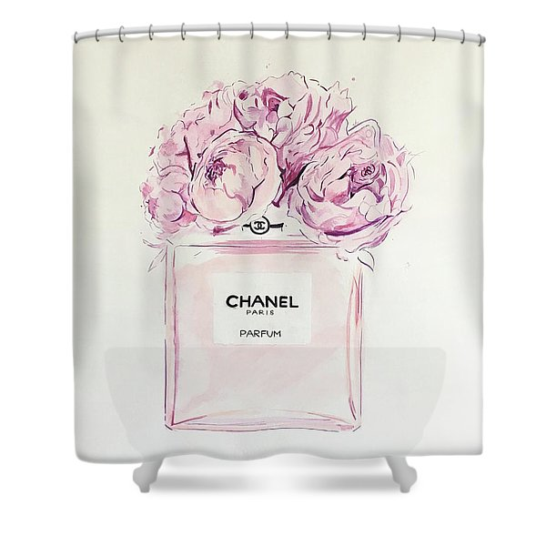Chanel Peonies Shower Curtain