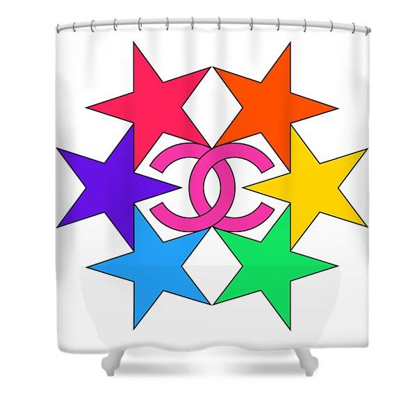 Chanel Stars-15 Shower Curtain