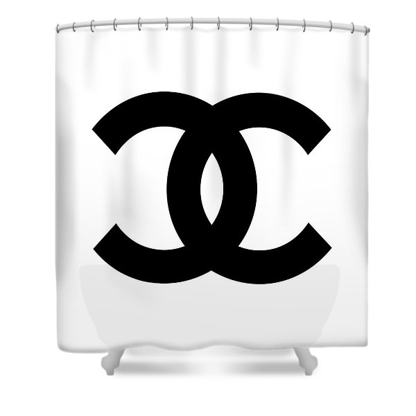 Chanel Symbol Shower Curtain