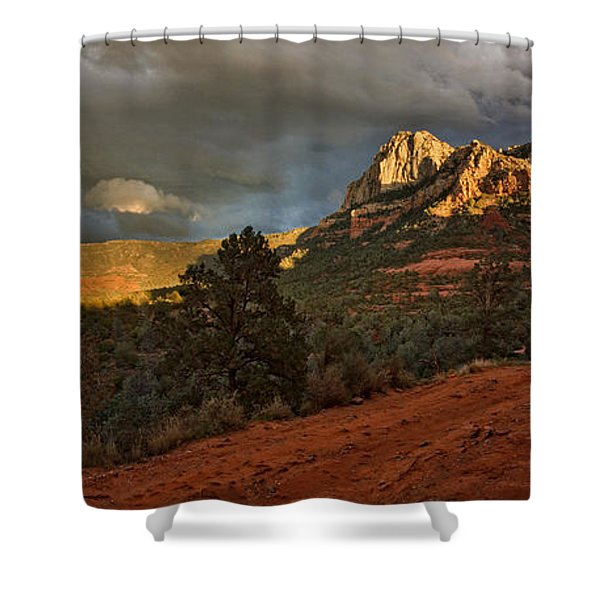Changing Hues At Sunset Shower Curtain