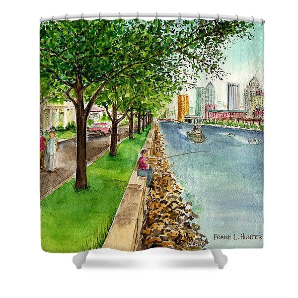 Channel Drive Tampa Florida Shower Curtain