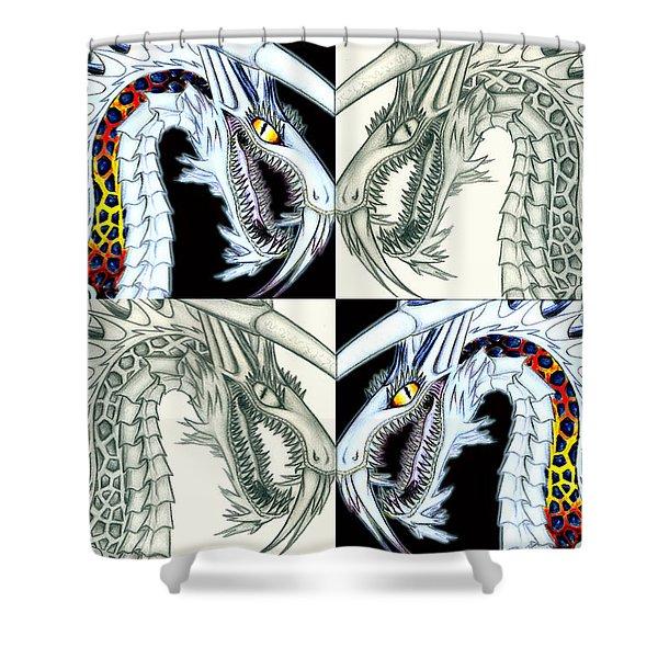 Chaos Dragon Fact Vs Fiction Shower Curtain