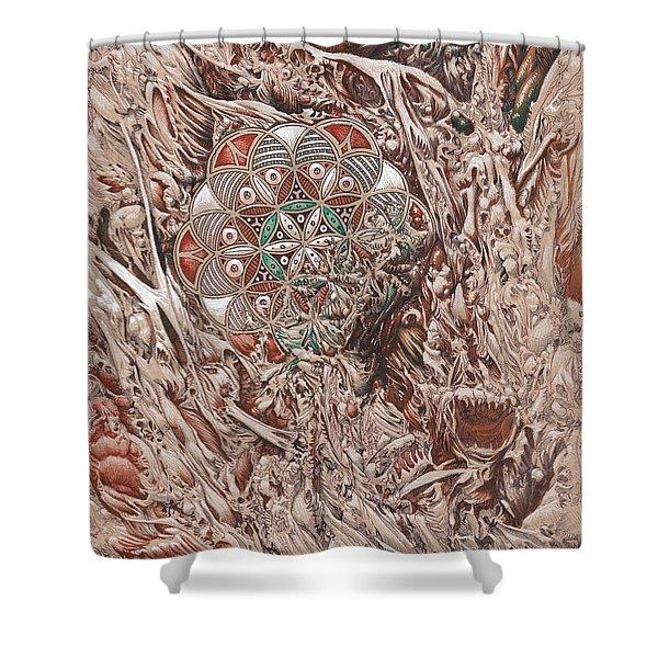 Chaos Mandala Shower Curtain