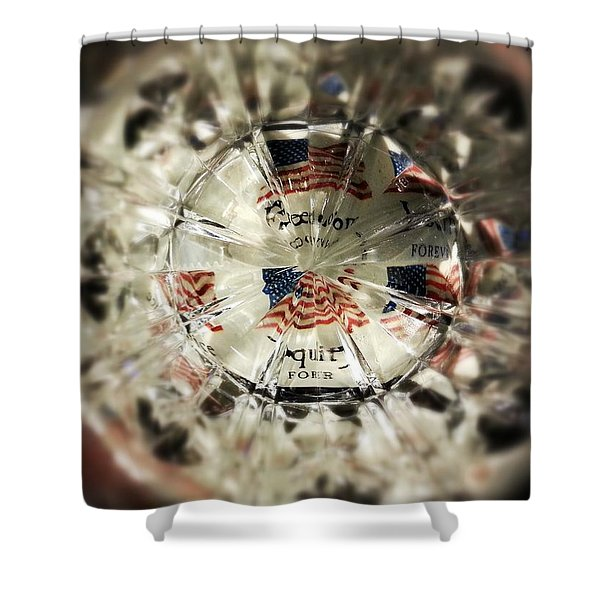Chaotic Freedom Shower Curtain