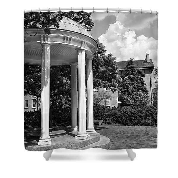 Chapel Hill Old Well In Black And White Shower Curtain